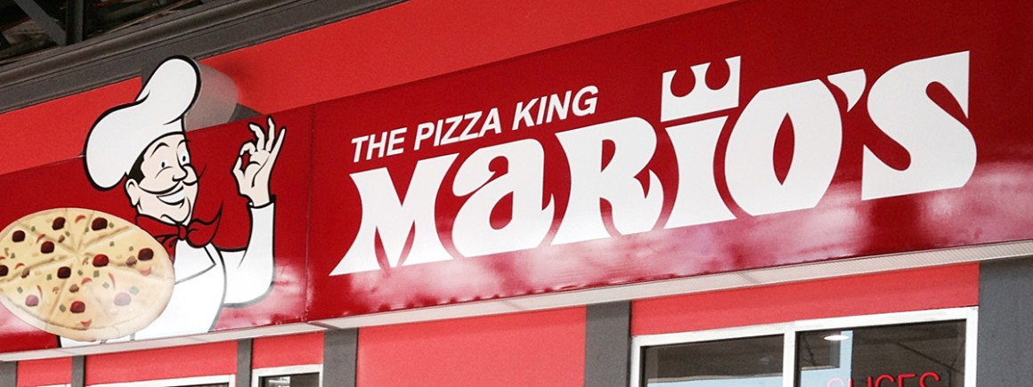 Mario's Pizza Store Sign