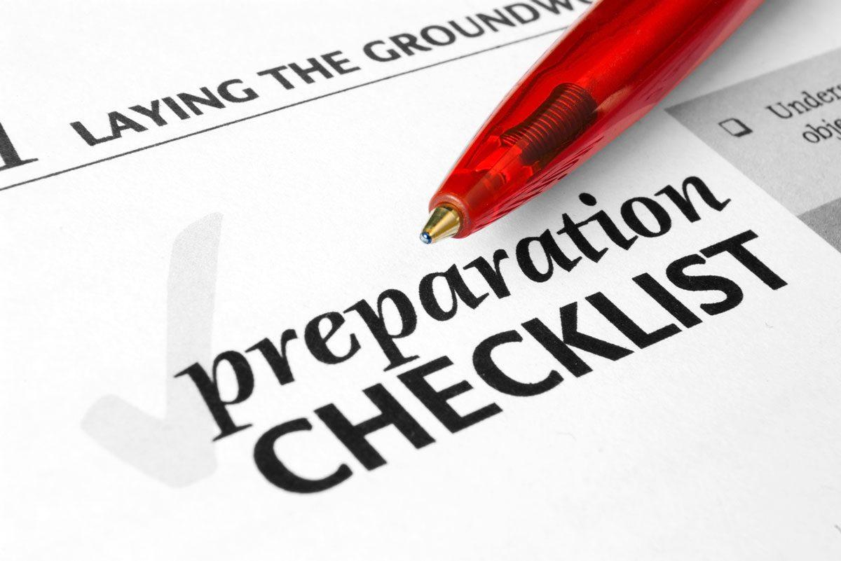 Preparation List